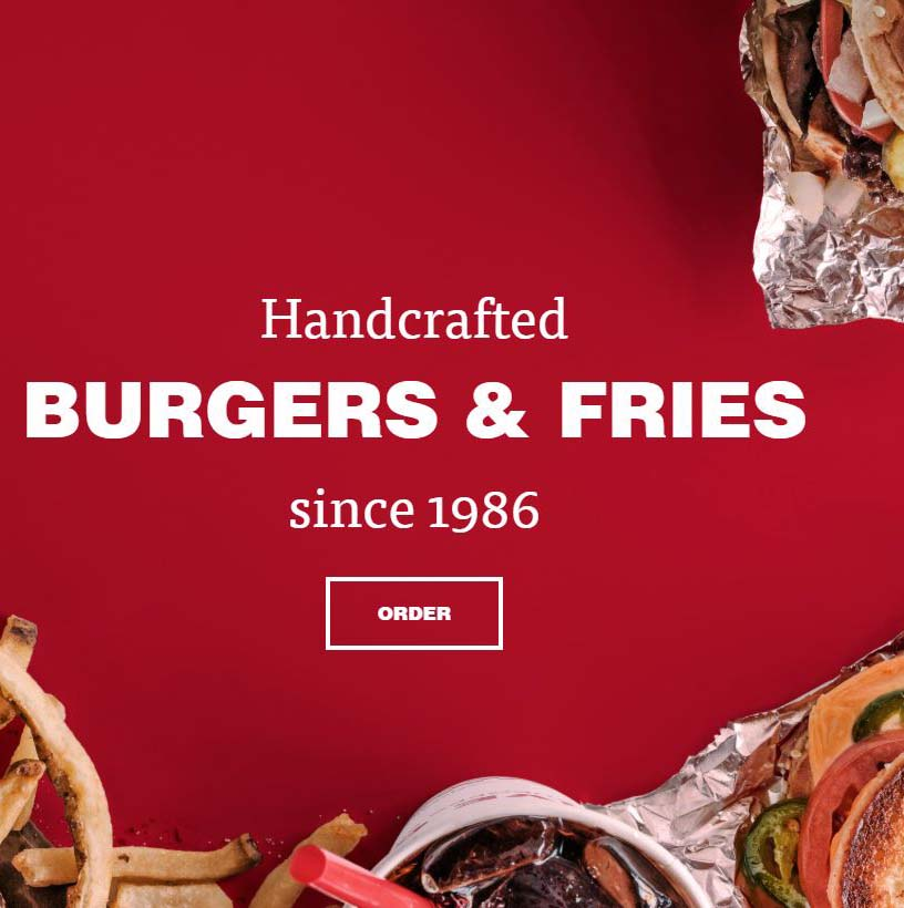 five guy's burgers and fries