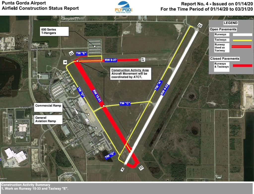 Photo of Punta Gorda Airport Airfield Construction Status Report as of January 14, 2020