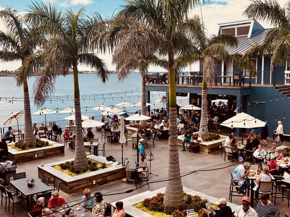 Photo of people dining at Fishermans Village in Punta Gorda, FL