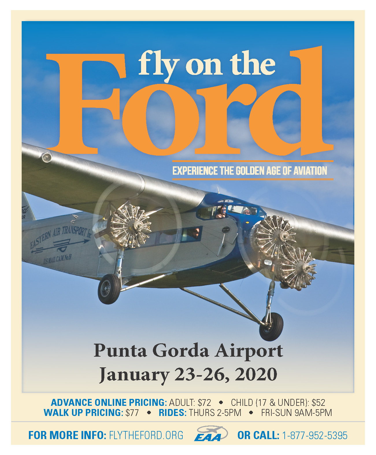 Flier for information on Flying on the Ford Aircraft