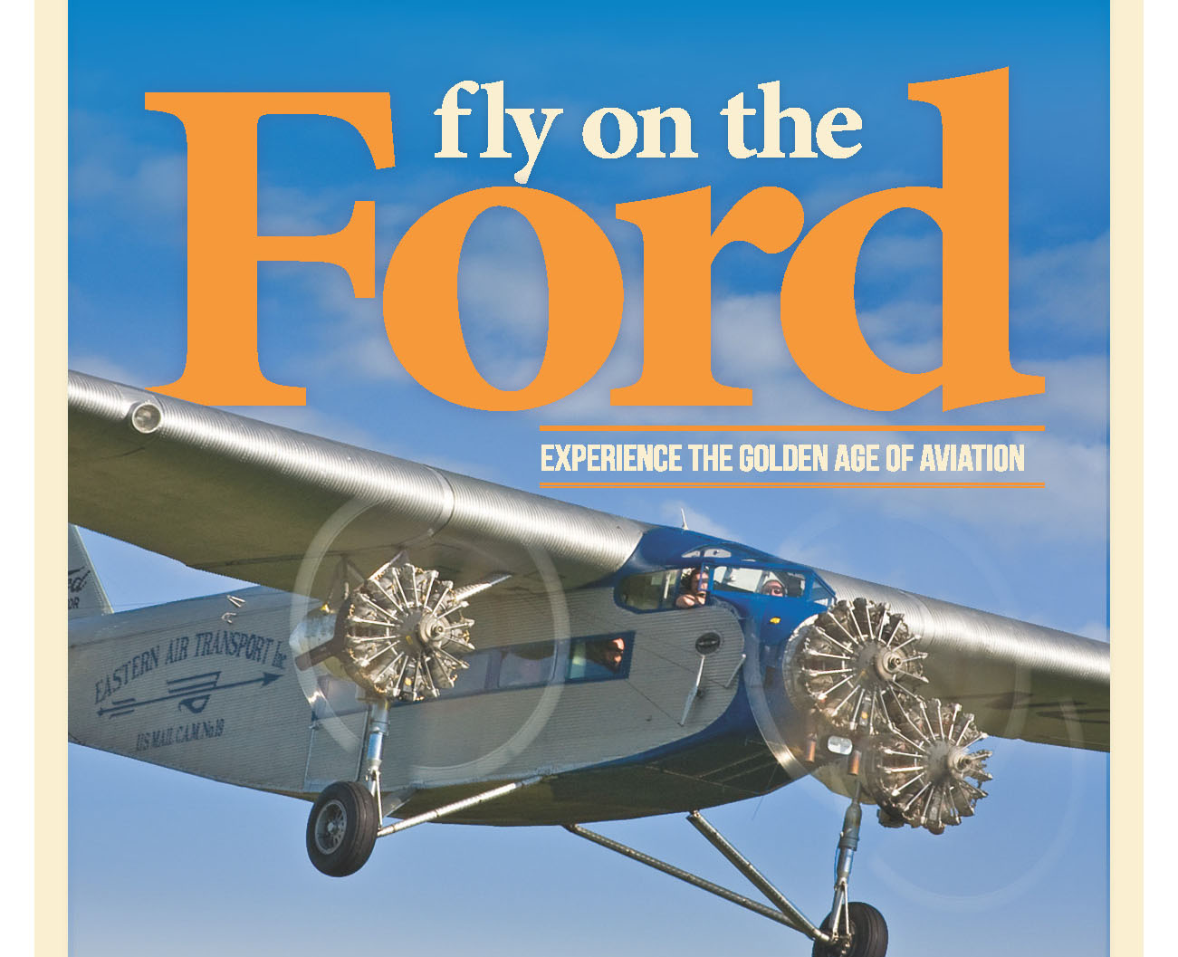 Advertisement for information on Flying on the Ford Aircraft